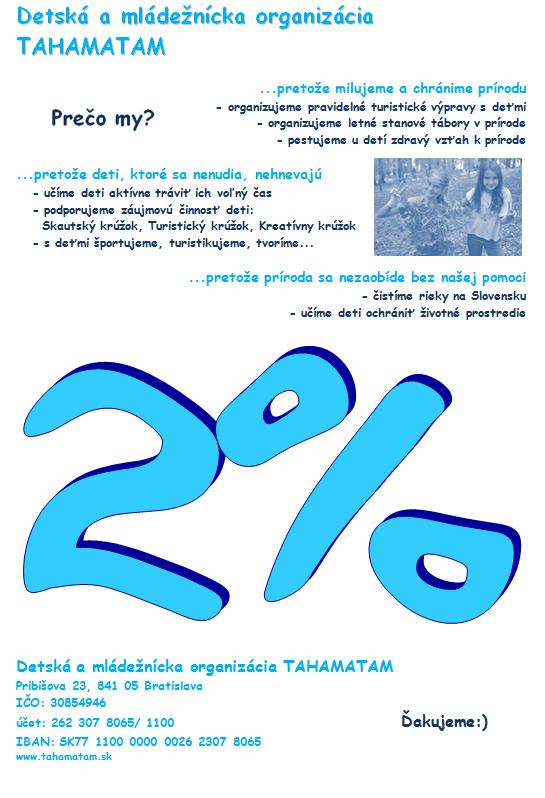 2 percentá z dane