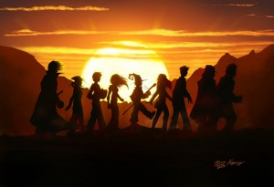 trekking_the_sunset_by_metaworks